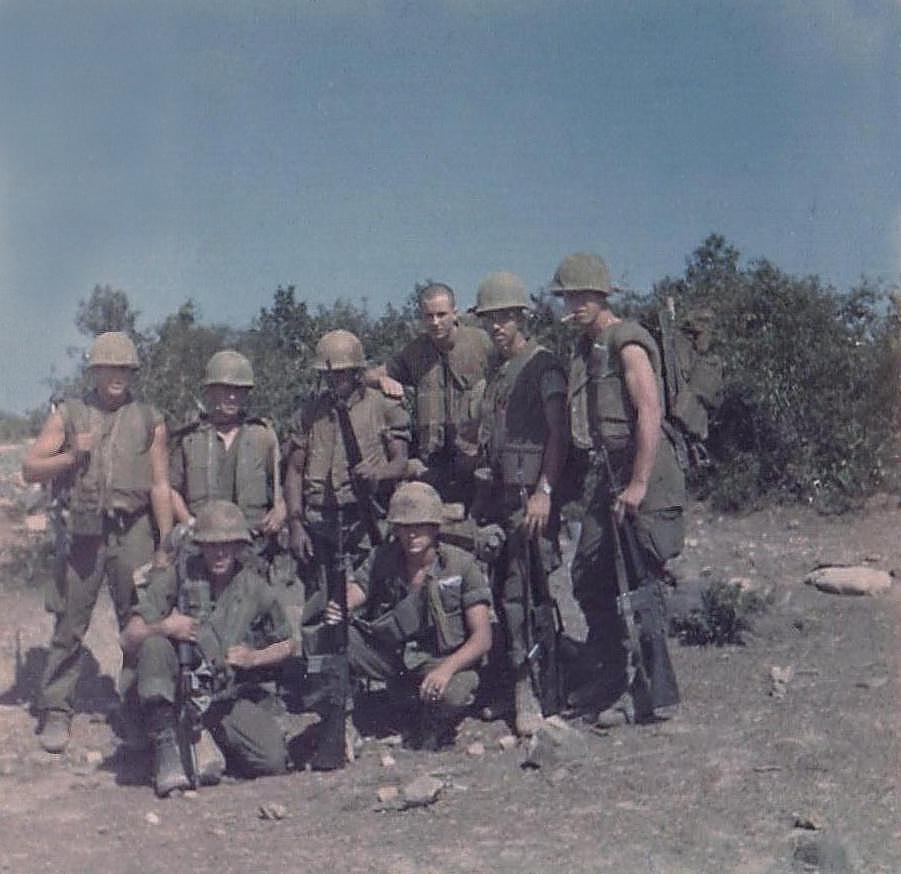15 Vietnam group..Richard Knee, unknown,Tom Hines, John Gunning, Derl, unknown,