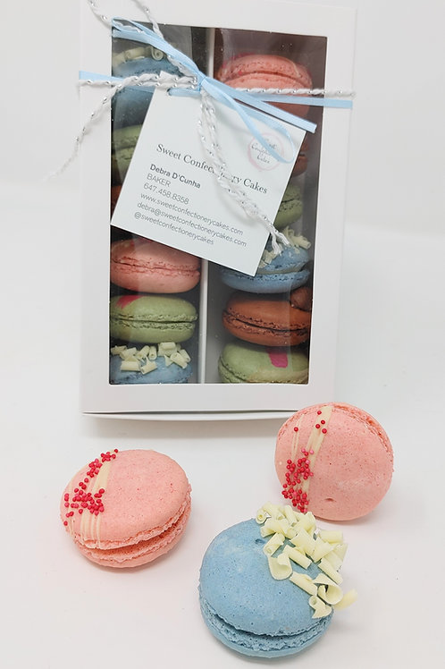 PRE-BOXED 1 DOZEN ASSORTED FRENCH MACARONS