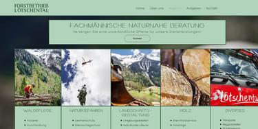 Forstbetrieb Lötschental Website