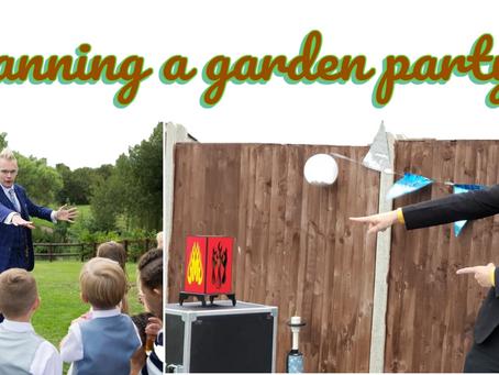 A socially distanced garden party.