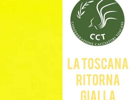CCT: ITALIA A COLORI, LA TOSCANA RITORNA GIALLA