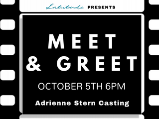Adrienne Stern Casting is coming to Latitude Talent Studios