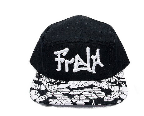 front Black White Hawaiian Camper Hat bmx lifestyle