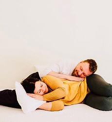 Kissen-Set, sih gegenseitig als Kissen benutzen