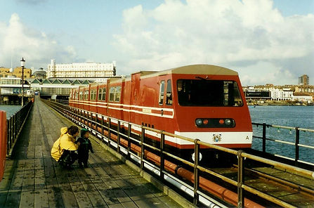 Image of train on Southend Pier 1983