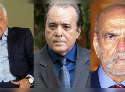Tony Ramos, Lima Duarte e Antônio Fagundes serão demitidos da Globo