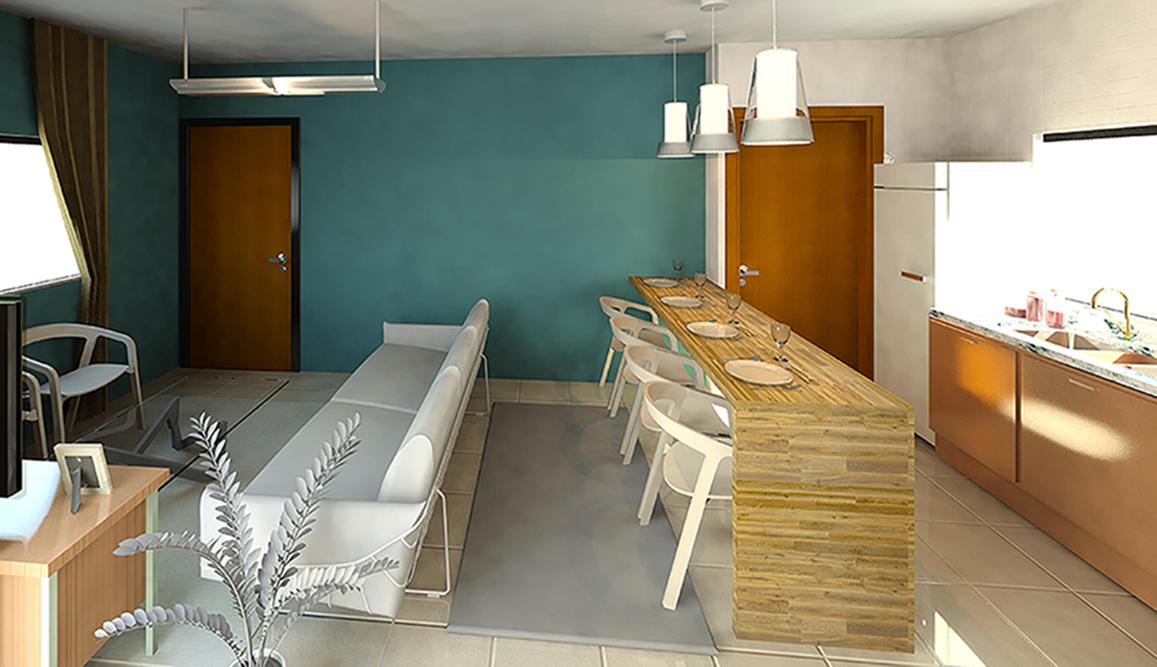 Living integrado - Residencial BSJ