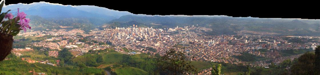 Vista panorámica de Pereira desde Finca Hotel Villa Ilusión