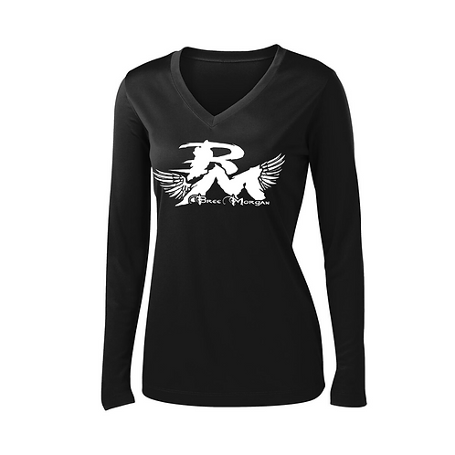 Womens V-Neck Long Sleeve