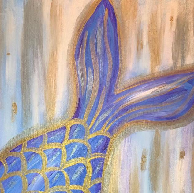 Shimmering Mermaid Tail