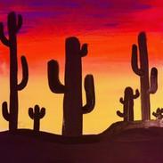 Cactus Sunset