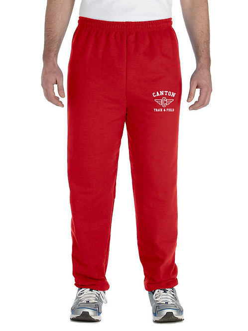 Canton Track G182 Adult Heavy Blend Adult 50/50 Sweatpants (Embroidered)