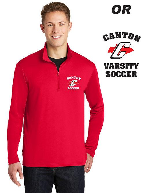 Canton Girl's Soccer ST357 Men's Quarter Zip Lightweight
