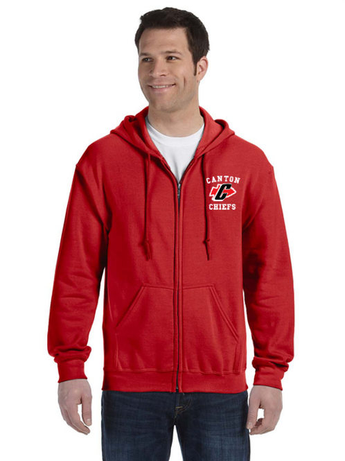 Embroidered Canton G186 Adult Heavy Blend 50/50 Full-Zip Hoodie