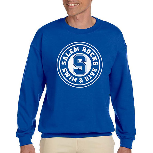 """Salem Girl's Swim & Dive """"Circle Logo"""" Printed G185 Adult Crewneck"""