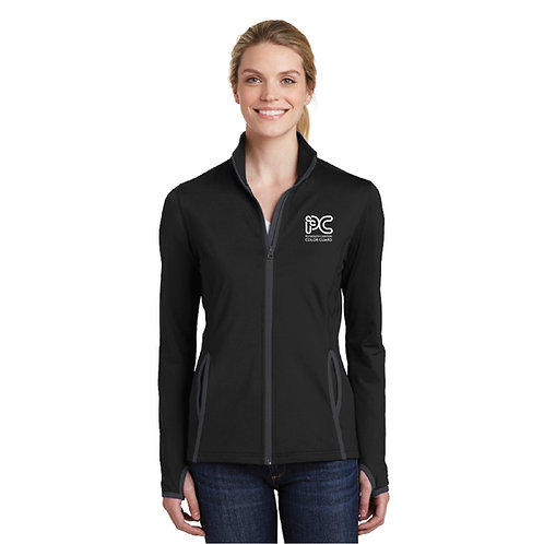Embroidered Plymouth Canton Color Guard LST853 Women's Full-Zip Warmup Jacket