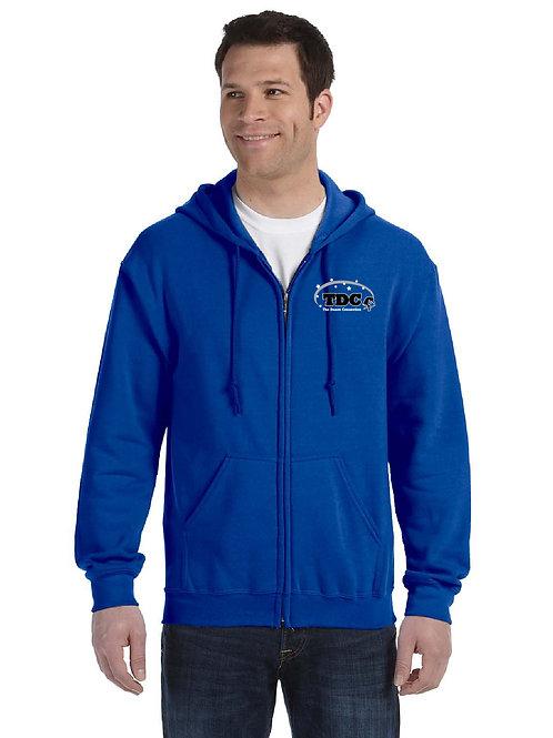 TDC G186 Printed Adult Full-Zip Hooded Sweatshirt