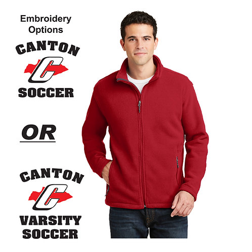 Canton Soccer Embroidered F217 Men's Fleece Jacket