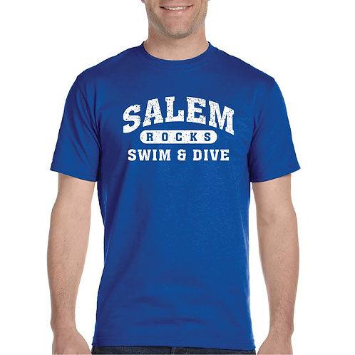 "Salem Girl's Swim & Dive ""Distressed Logo"" Printed G800 Adult T-Shirt"