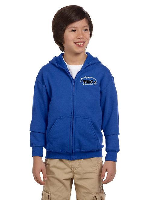 TDC G186B Printed Youth Full-Zip Hooded Sweatshirt