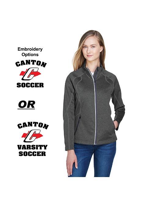 Canton Soccer Embroidered 78174 Ladies Fleece Full Zip (SOC)
