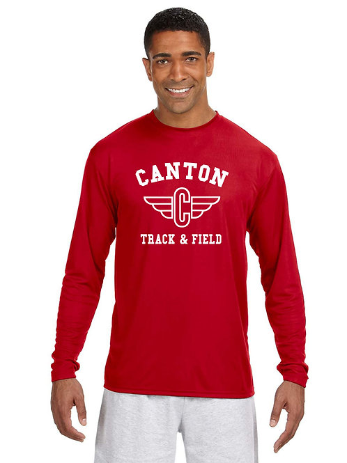 Canton Track N3165 Men's Cooling Performance Long Sleeve T-Shirt