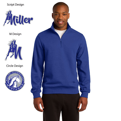 Embroidered Miller ST253 1/4-Zip Sweatshirt
