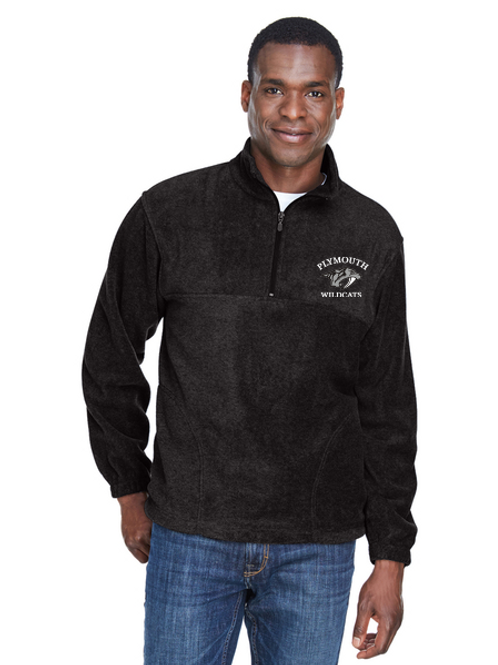 Embroidered Plymouth M980 Adult Quarter-Zip Fleece Pullover