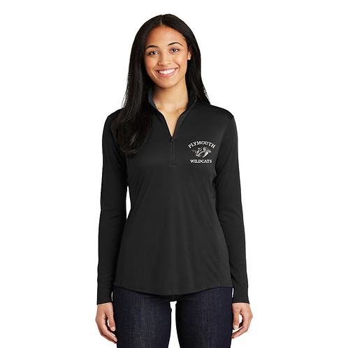 Embroidered Plymouth LST357 Ladies 1/4-Zip Pullover