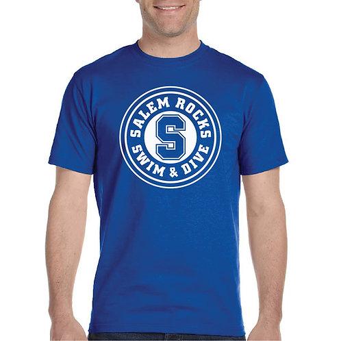 """Salem Girl's Swim & Dive """"Circle Logo"""" Printed G800 Adult T-Shir"""