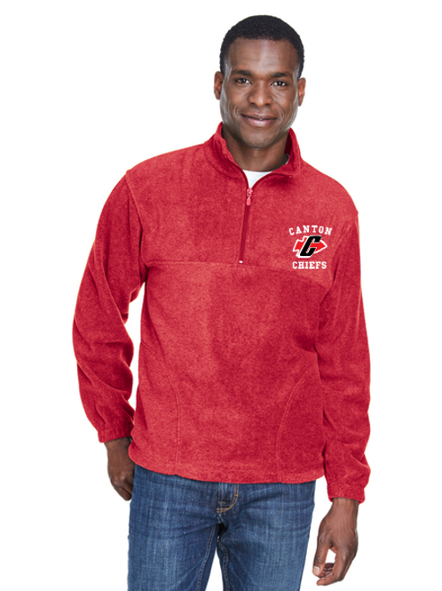 Embroidered Canton M980 Adult Quarter-Zip Fleece Pullover