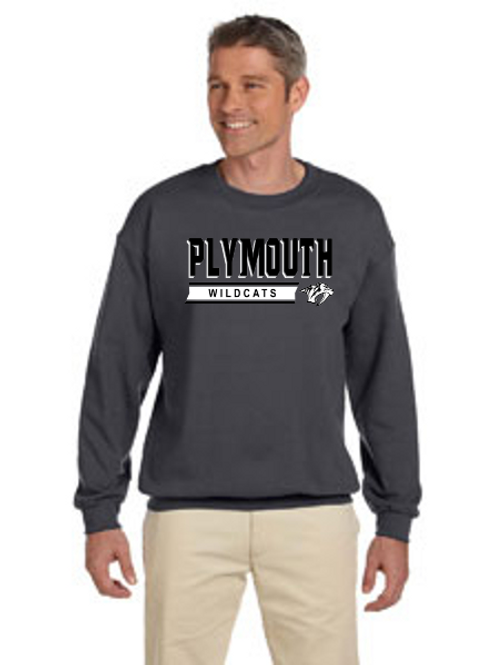 Plymouth G180 Adult Heavy Blend 50/50 Fleece Crew
