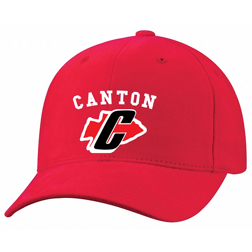 Embroidered Canton 6363V Brushed Cotton Twill Mid-Profile Cap