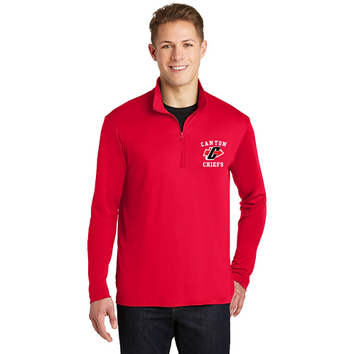 Embroidered Canton ST357 1/4-Zip Pullover