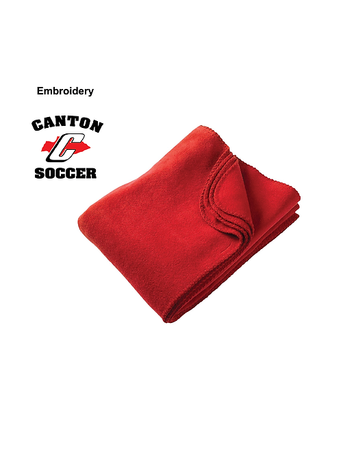 Canton Soccer Embroidered M999 Harriton Fleece Blanket (SOC)
