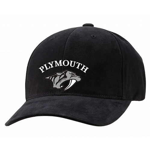 Embroidered Plymouth 6363V Brushed Cotton Twill Mid-Profile Cap