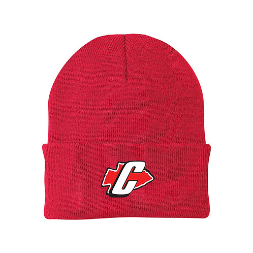 Canton Soccer Embroidered CP90 Solid Knit Cap