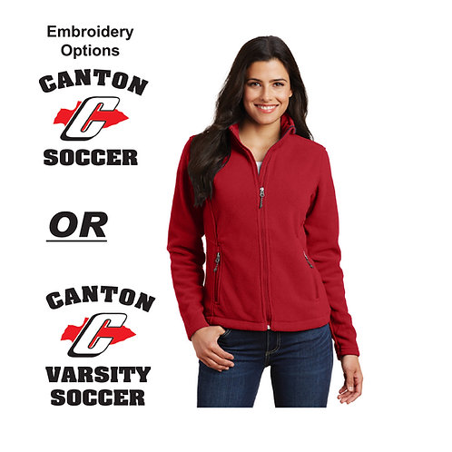 Canton Soccer Embroidered L217 Ladies Fleece Jacket