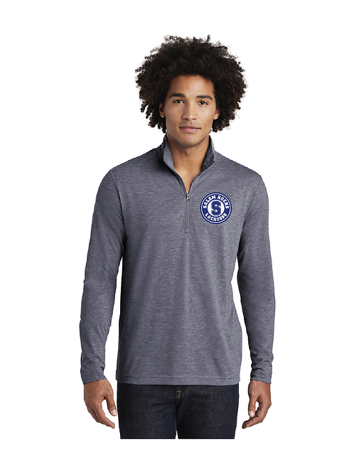 Sport-Tek PosiCharge TriBlend Wicking Quarter Zip Pullover