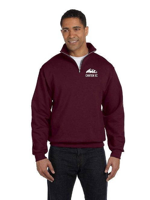 Canton Girl's Cross Country 995M Adult Quarter-Zip Sweatshirt