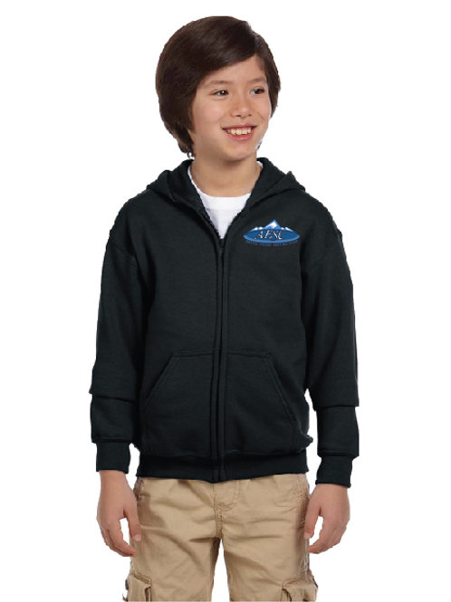 Youth Embroidered Full Zip Hoodie