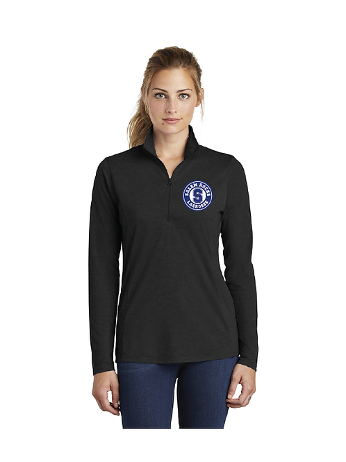 Sport-Tek Ladies PosiCharge TriBlend Wicking Quarter Zip Pullover