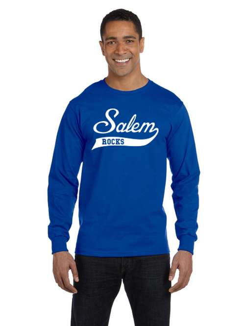 Salem Glitter G840 Adult 50/50 Long-Sleeve T-Shirt