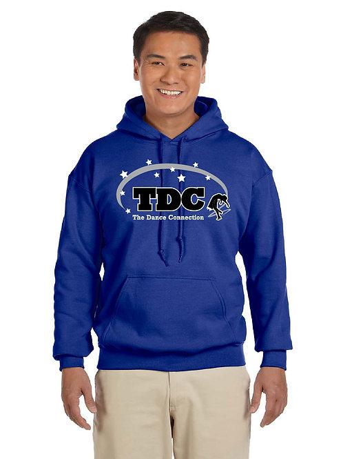 TDC G185 Printed Adult Hooded Sweatshirt