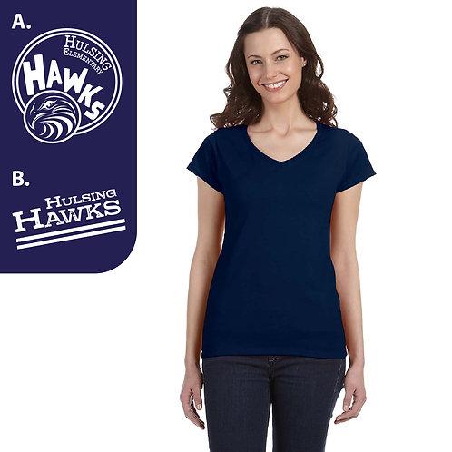 Hulsing G64VL Printed Ladies' V-Neck T-Shirt