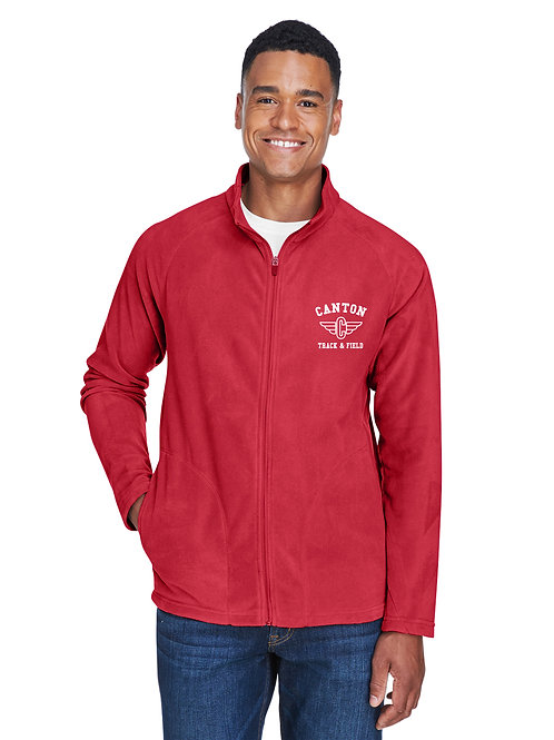 Canton Track TT90 Men's Microfleece Full-Zip Jacket (Embroidered)
