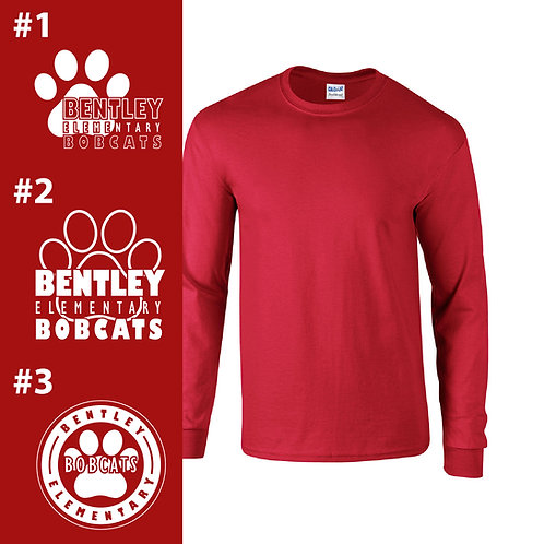 Bentley Bobcats Printed G840 Adult Long-Sleeve Shirt