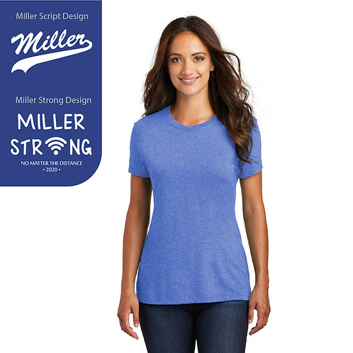 Printed Miller DM130L Women's Tri-Tee