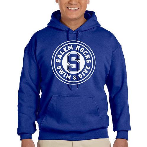 "Salem Girl's Swim & Dive ""Circle Logo"" Printed G185 Adult Hoodie"