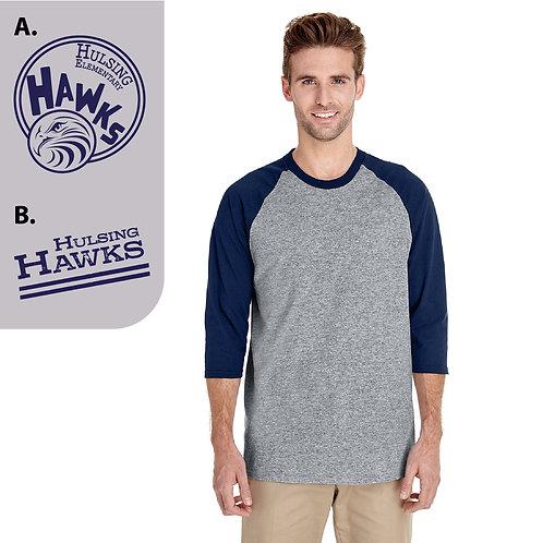 Hulsing G570/G570B Printed 3/4-Raglan Sleeve T-Shirt